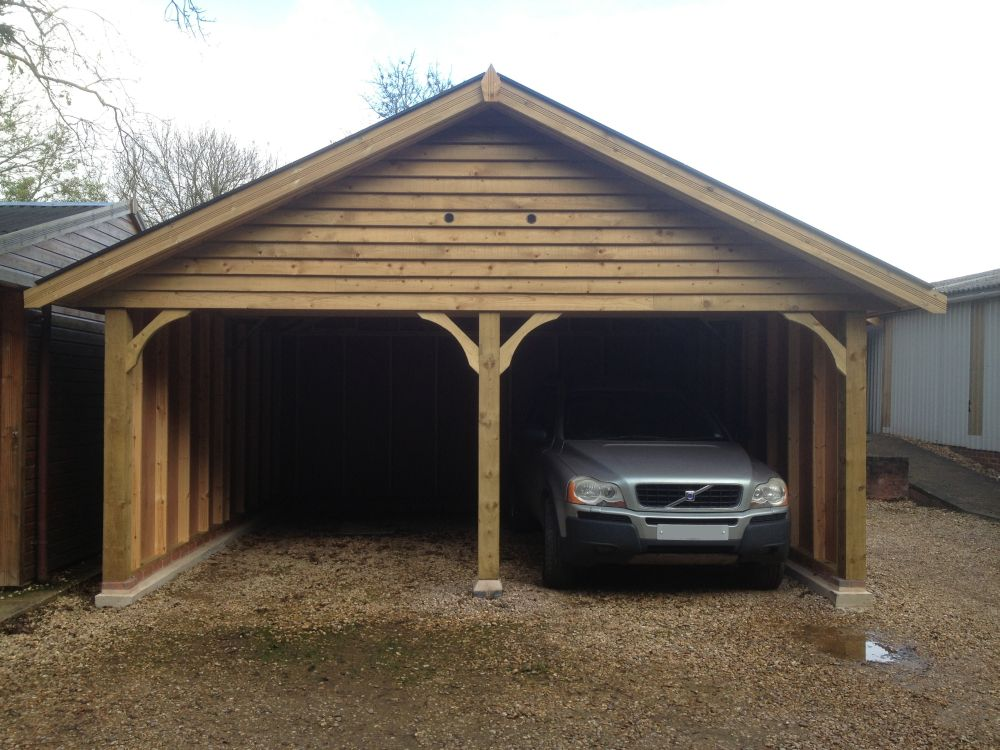Warwick Garages Oak Framed Style