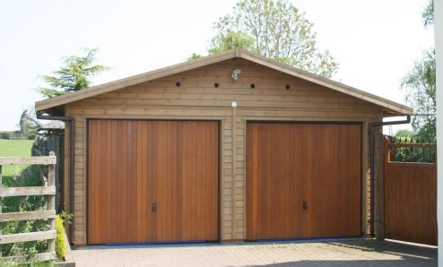 Warwick garage timber garages workrooms timber for Cost to build a double car garage